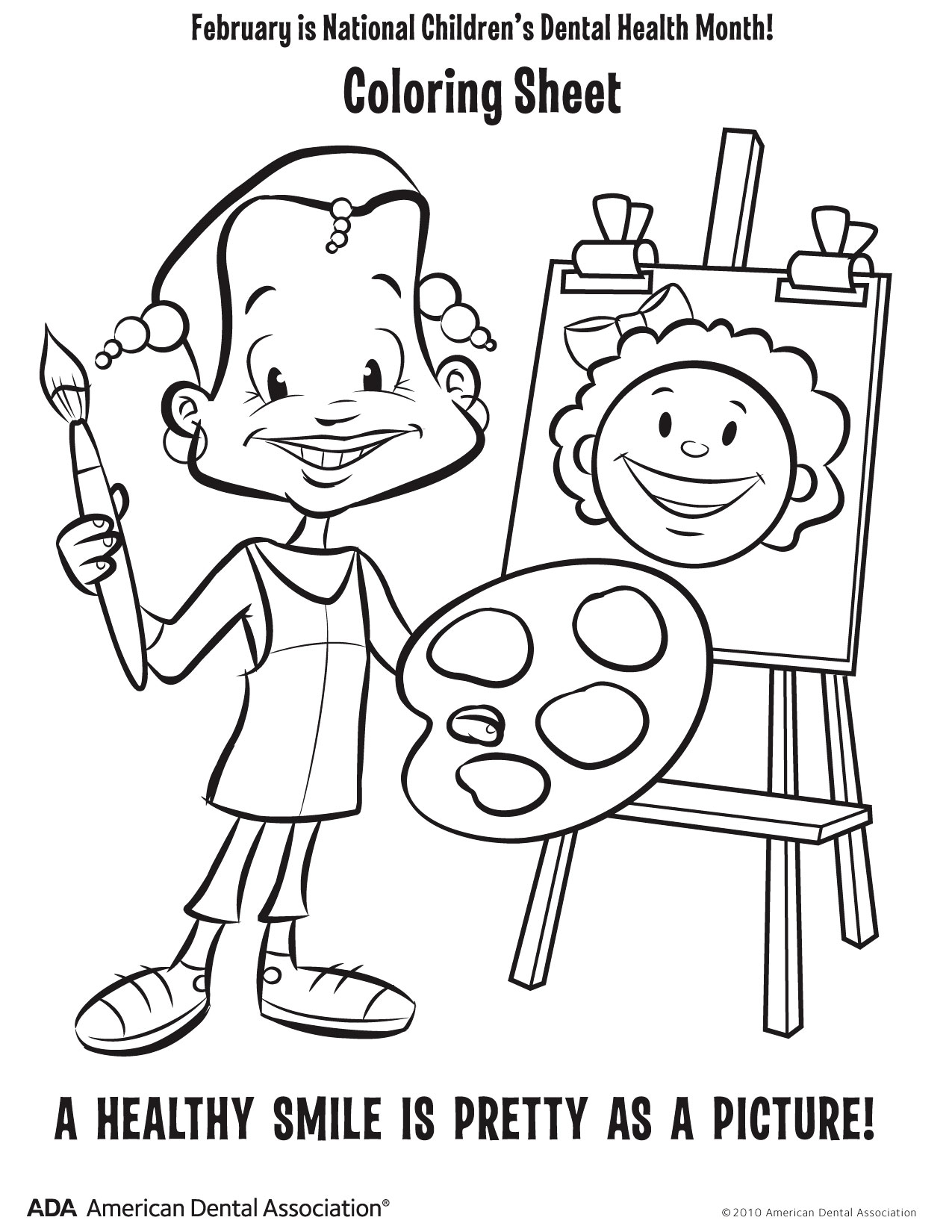 Childrens dental coloring pages - Dental Coloring Pages
