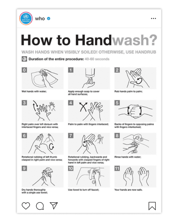 This a an example of hand washing